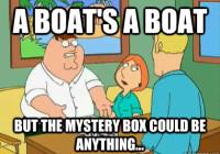 mystery box boat trivia