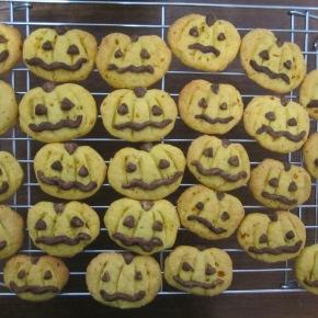 Jack-O'-Lantern Kabocha Cookies